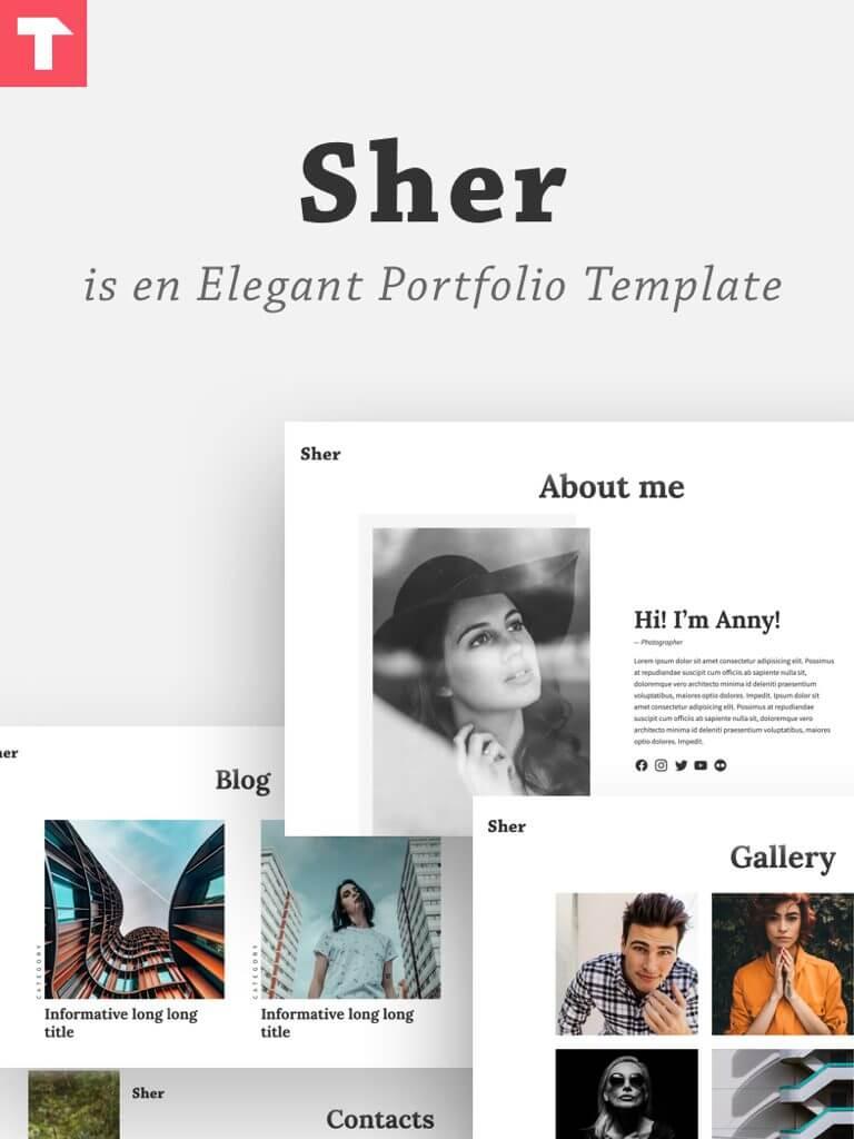 Sher — элегантный HTML шаблон