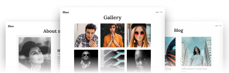 Sher — Responsive Portfolio Website Template
